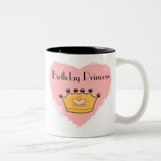 En mi princesa rosada Birthday Kids Mug del corazó Taza De Café