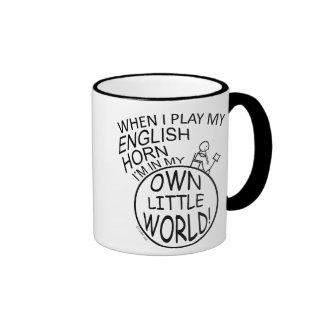 En mi propio cuerno inglés del pequeño mundo taza de dos colores