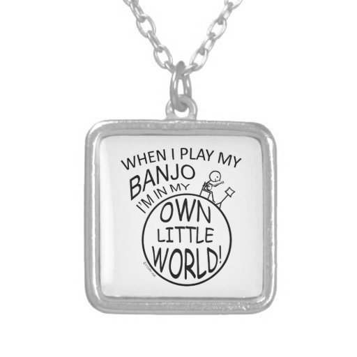 En mi propio pequeño banjo del mundo joyeria