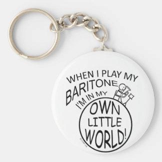 En mi propio pequeño barítono del mundo llavero personalizado