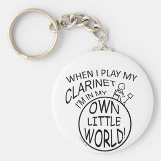En mi propio pequeño Clarinet del mundo Llavero Redondo Tipo Pin