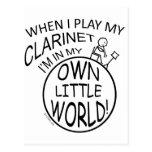En mi propio pequeño Clarinet del mundo Postal