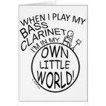 En mi propio pequeño clarinete bajo del mundo tarjeta