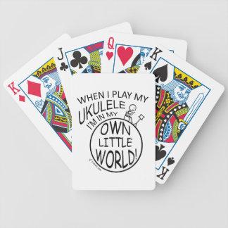 En mi propio pequeño Ukulele del mundo Baraja Cartas De Poker