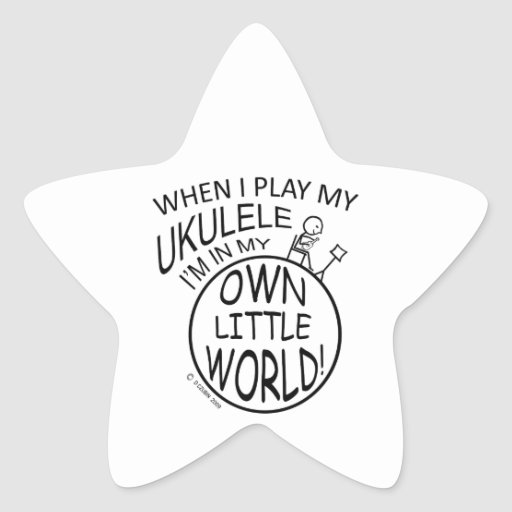 En mi propio pequeño Ukulele del mundo Etiqueta