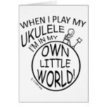 En mi propio pequeño Ukulele del mundo Tarjeta De Felicitación