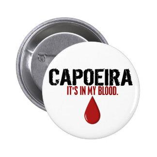 En mi sangre CAPOEIRA Pin Redondo De 2 Pulgadas