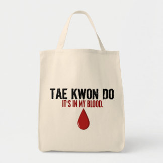 En mi sangre el TAEKWONDO Bolsa Tela Para La Compra