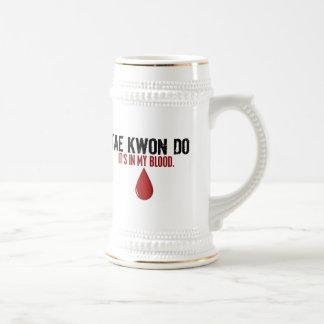 En mi sangre el TAEKWONDO Jarra De Cerveza