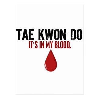 En mi sangre el TAEKWONDO Tarjetas Postales