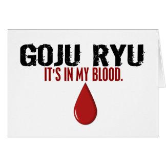 En mi sangre GOJU RYU Tarjeta De Felicitación
