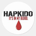En mi sangre HAPKIDO Pegatinas Redondas