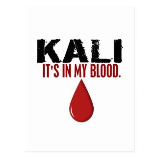 En mi sangre KALI Tarjeta Postal