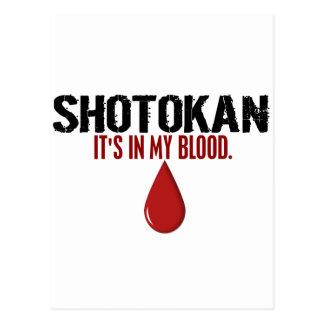 En mi sangre SHOTOKAN Tarjeta Postal