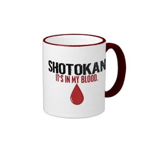 En mi sangre SHOTOKAN Taza De Café