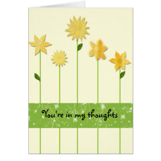 En mis pensamientos tarjeta de felicitación