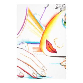 En mis sueños (chica del soñador) papelería de diseño