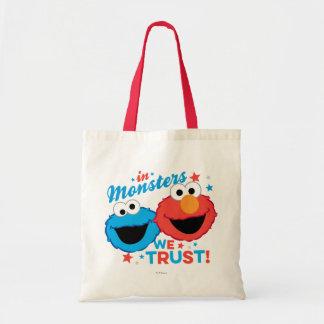 ¡En monstruos confiamos en! Bolsa Tela Barata