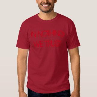"""""""En nada confiamos en"""" la camiseta Poleras"""