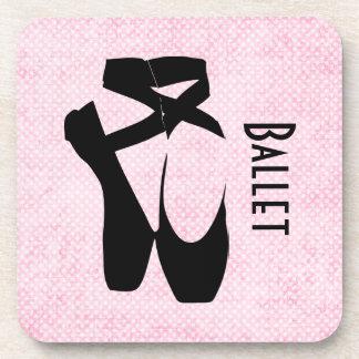 En negro Pointe de los zapatos de ballet Posavasos De Bebida