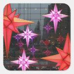 En New York City. Decoración del navidad dentro Colcomanias Cuadradas Personalizadas