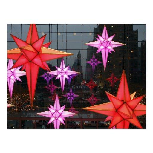 En New York City. Decoración del navidad dentro Tarjeta Postal