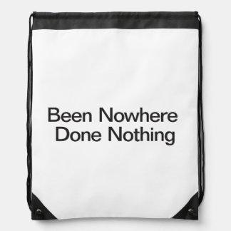 En ninguna parte hecho nada mochilas