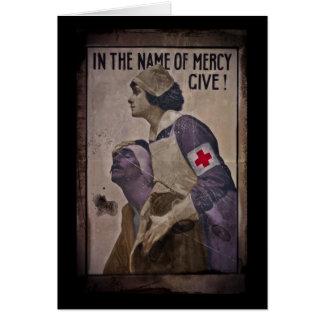 En nombre de misericordia dé tarjeta de felicitación
