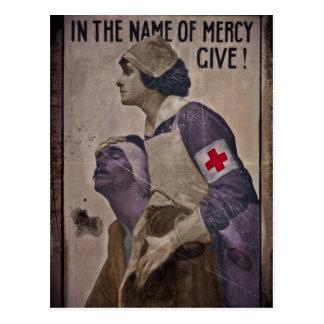 En nombre de misericordia dé postal
