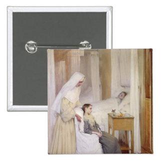En Notre-Dame du Perpetuel Bon Secours Pin Cuadrada 5 Cm