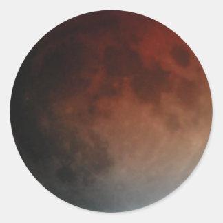En noviembre de 2003 eclipse etiquetas redondas