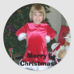 En noviembre de 2006 004, MerryChristmas Pegatina Redonda