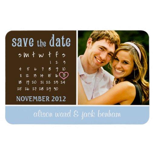 """en noviembre de 2012 calendario """"reserva la fecha  iman de vinilo"""