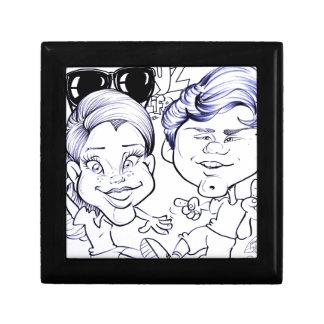 En noviembre de 2012 caricatura justa de Luisiana Caja De Joyas