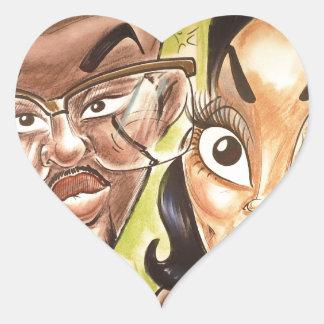 En noviembre de 2012 caricatura justa de Luisiana Pegatina En Forma De Corazón