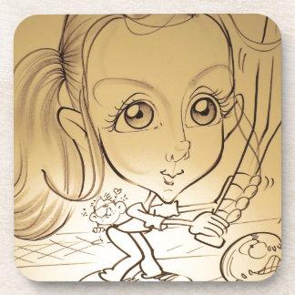 En noviembre de 2012 caricatura justa de Luisiana  Posavasos De Bebidas
