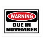 en noviembre postal DEBIDA amonestadora