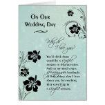 En nuestro ~ del día de boda porqué lo haga te amo tarjetas