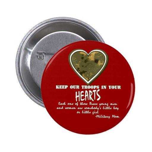 En nuestros corazones pin redondo 5 cm