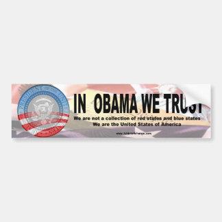 En Obama confiamos en la copia 2 Pegatina Para Auto