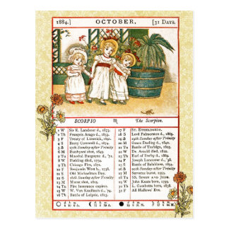 En octubre de 1884 almanaque Escorpión el escor Postales