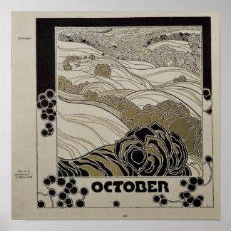 En octubre de 1901 póster