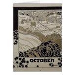 En octubre de 1901 tarjeta de felicitación