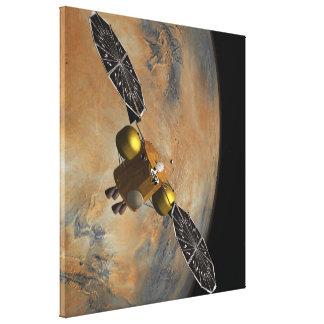 En órbita marciana en arte lona envuelta para galerías