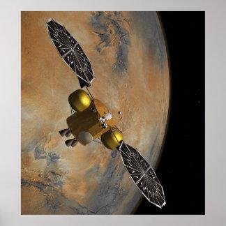 En órbita marciana en arte póster