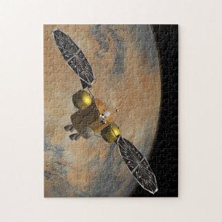 En órbita marciana en arte puzzle