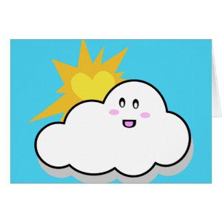 En parte nublado (azul) tarjeta de felicitación