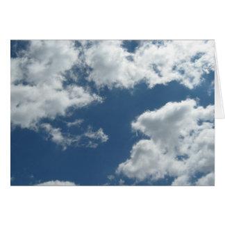 En parte nublado tarjeta pequeña
