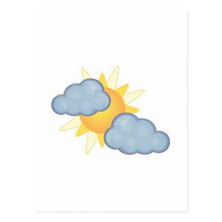 en parte nublado tarjetas postales