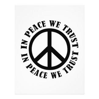 En paz confiamos en flyer personalizado